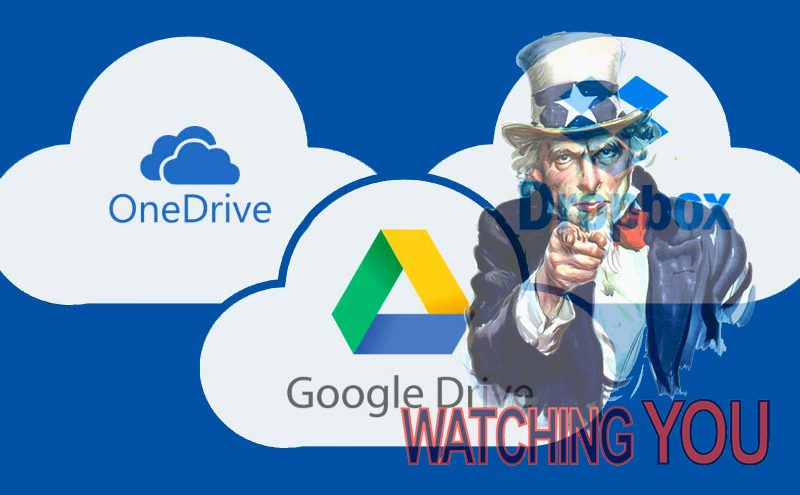Le informazioni personali degli utenti internet memorizzate sui principali servizi di cloud storage possono essere spiate dalle autorità statunitensi