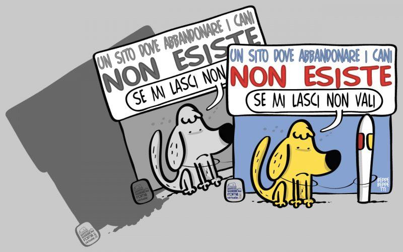 La campagna anti abbandono firmata Roma Virtuale #UnSitoDoveAbbandonareICaniNonEsiste