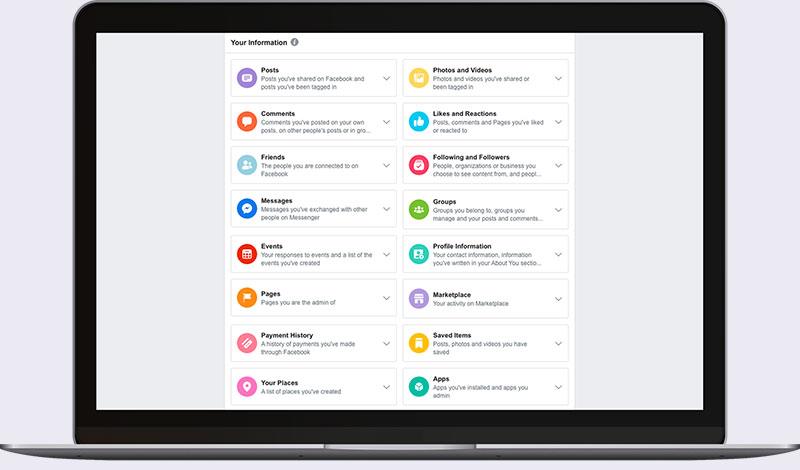 Facebook: la nuova gestione dei dati personali