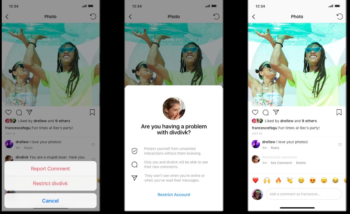 Limita - La nuova funzione di Instagram contro il bullismo