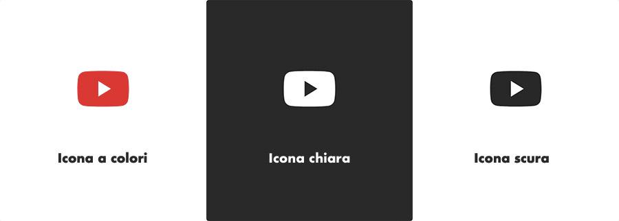 Le nuove icone di YTouTube in 3 versioni