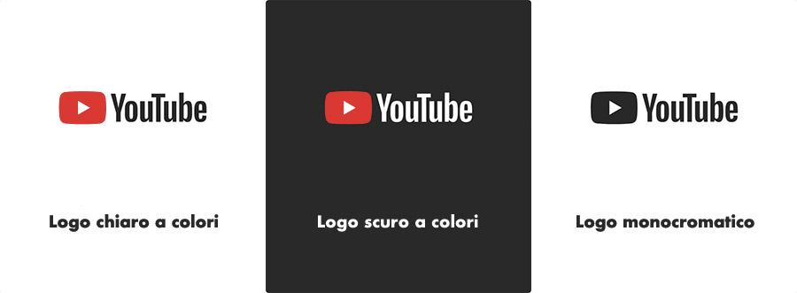 Il nuovo logo di You Tube in 3 versioni